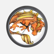 Orange Dragon Wall Clock