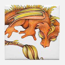 Orange Dragon Tile Coaster