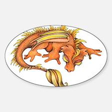 Orange Dragon Decal