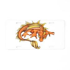 Orange Dragon Aluminum License Plate