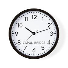 Capon Bridge Newsroom Wall Clock