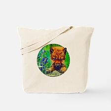 Wildflowers Wolf Pup Tote Bag