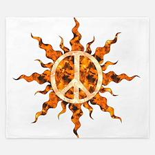 Flaming Peace Sun King Duvet