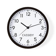 Cassidy Newsroom Wall Clock
