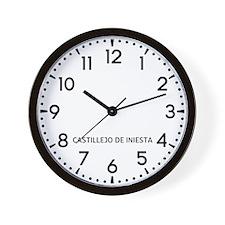 Castillejo De Iniesta Newsroom Wall Clock