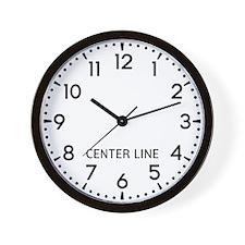 Center Line Newsroom Wall Clock