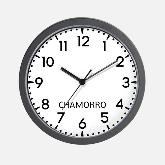 Chamorro Newsroom Wall Clock