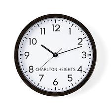 Charlton Heights Newsroom Wall Clock