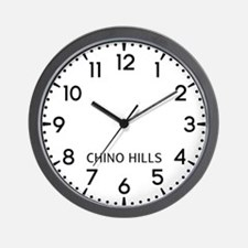 Chino Hills Newsroom Wall Clock