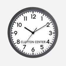 Clayton Center Newsroom Wall Clock