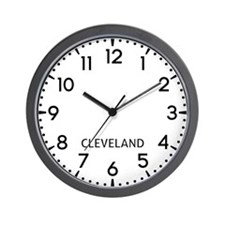 Cleveland Newsroom Wall Clock