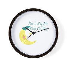 Now I Lay Me Down To Sleep Wall Clock