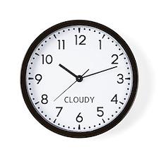 Cloudy Newsroom Wall Clock