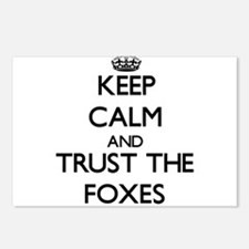 Keep calm and Trust the Foxes Postcards (Package o