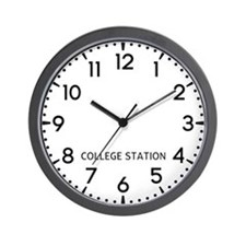 College Station Newsroom Wall Clock