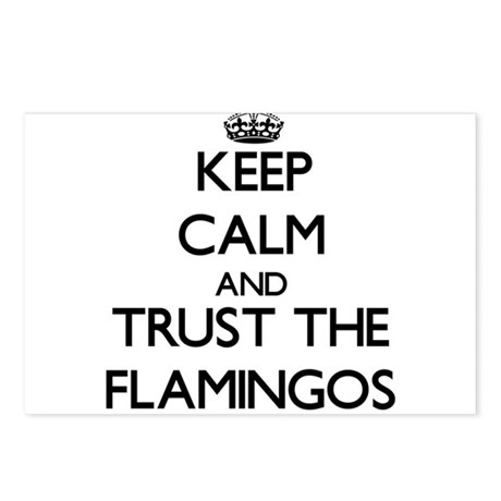 Keep calm and Trust the Flamingos Postcards (Packa