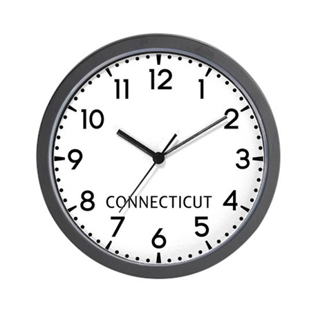 Connecticut Newsroom Wall Clock