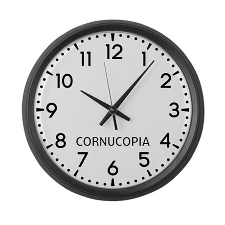 Cornucopia Newsroom Large Wall Clock