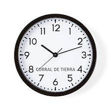 Corral De Tierra Newsroom Wall Clock