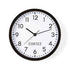 Cortez Newsroom Wall Clock