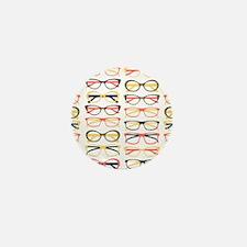 Hipster Glasses Mini Button