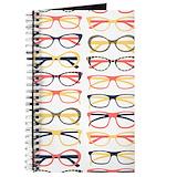 Hipster glasses Journals & Spiral Notebooks