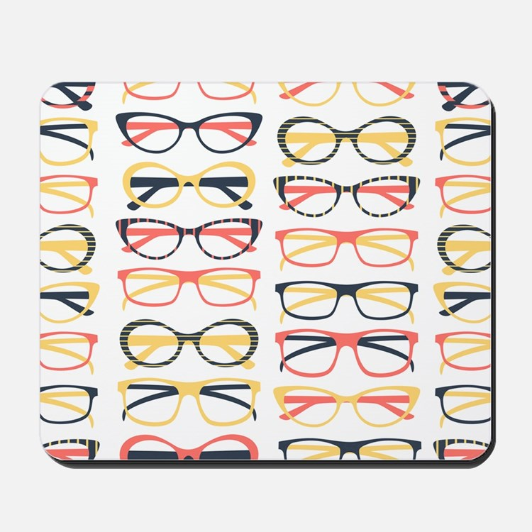 Hipster Glasses Mousepad