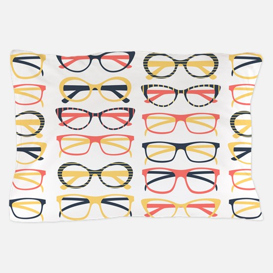 Hipster Glasses Pillow Case