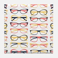 Hipster Glasses Tile Coaster