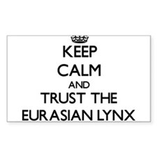 Keep calm and Trust the Eurasian Lynx Decal