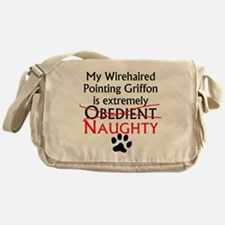 Naughty Wirehaired Pointing Griffon Messenger Bag