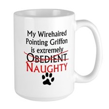 Naughty Wirehaired Pointing Griffon Mugs