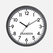 Crandon Newsroom Wall Clock