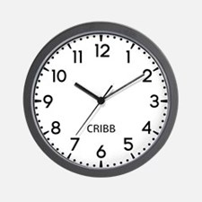 Cribb Newsroom Wall Clock