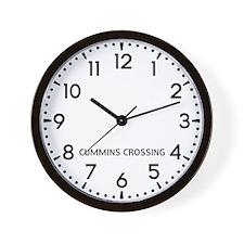 Cummins Crossing Newsroom Wall Clock