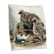 Emu Chicks Burlap Throw Pillow
