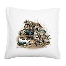 Emu Chicks Square Canvas Pillow