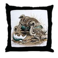 Emu Chicks Throw Pillow