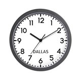 Dallas newsroom Wall Clocks