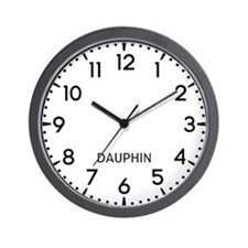 Dauphin Newsroom Wall Clock