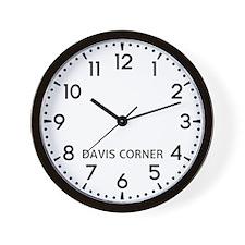 Davis Corner Newsroom Wall Clock