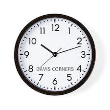 Davis Corners Newsroom Wall Clock