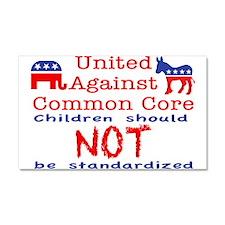 United Against CCSS Car Magnet 20 x 12