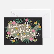 Hugs From Afar Birthday Card Greeting Cards