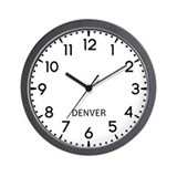 Denver newsroom Wall Clocks
