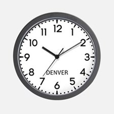 Denver Newsroom Wall Clock