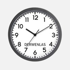 Derwenlas Newsroom Wall Clock