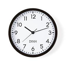 Dinh Newsroom Wall Clock