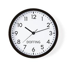 Doffing Newsroom Wall Clock