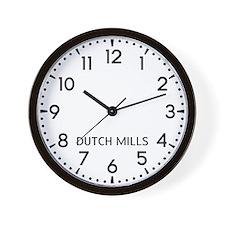 Dutch Mills Newsroom Wall Clock